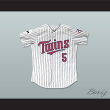 Tucker Kain 5 Minnesota Home Pinstriped Baseball Jersey Little Big League 1