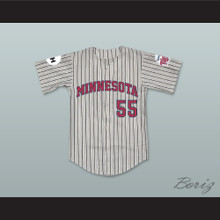 George O'Farrell 55 Minnesota Away Pinstriped Baseball Jersey Little Big League
