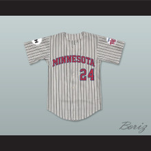 Lonnie Ritter 24 Minnesota Away Pinstriped Baseball Jersey Little Big League