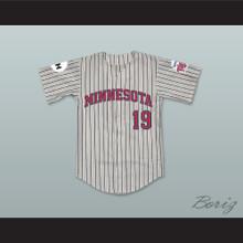 Mike McGrevey 19 Minnesota Away Pinstriped Baseball Jersey Little Big League