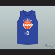 Ernest P. Worrell 0 Clean Sweep Blue Basketball Jersey Slam Dunk Ernest 2
