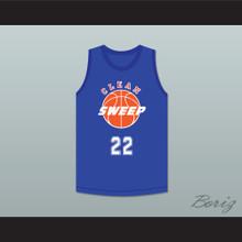 Willie 22 Clean Sweep Blue Basketball Jersey Slam Dunk Ernest