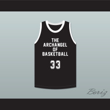 Kareem Abdul-Jabbar 33 The Archangel of Basketball Black Basketball Jersey Slam Dunk Ernest