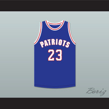 Noah Greggory 23 Will Foster High School Patriots Blue Basketball Jersey The Red Sneakers