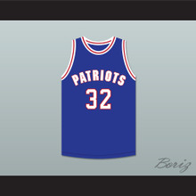 Roscoe 32 Will Foster High School Patriots Blue Basketball Jersey The Red Sneakers