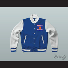 Will Foster High School Patriots Blue Varsity Letterman Jacket-Style Sweatshirt The Red Sneakers