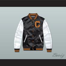 Cooley High School Black/ White Varsity Letterman Satin Bomber Jacket
