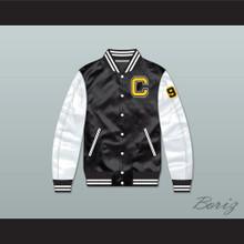 Coldwater High School Football Black/ White Varsity Letterman Satin Bomber Jacket