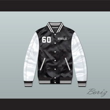 Nipsey Hussle 60 Crenshaw Black/ White Varsity Letterman Satin Bomber Jacket