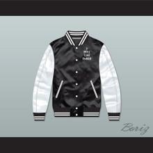 I Feel Like Pablo Black/ White Varsity Letterman Satin Bomber Jacket 1