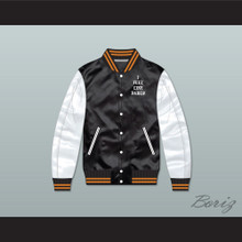I Feel Like Pablo Black/ White Varsity Letterman Satin Bomber Jacket 2