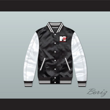 Bricklayers Basketball 4th Annual Rock N' Jock B-Ball Jam Black/ White Varsity Letterman Satin Bomber Jacket