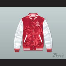 I Feel Like Pablo Red/ White Varsity Letterman Satin Bomber Jacket