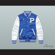 Al Bundy Polk High School Blue/ White Varsity Letterman Satin Bomber Jacket