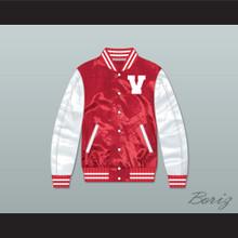 Vanderbilt Muskrats High School Red/ White Varsity Letterman Satin Bomber Jacket
