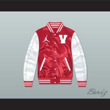 Steve Urkel Vanderbilt Muskrats High School Red/ White Varsity Letterman Satin Bomber Jacket