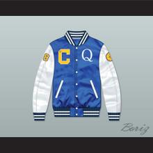 Quincy McCall 22 Crenshaw High School Blue/ White Varsity Letterman Satin Bomber Jacket 1