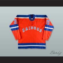 1972-73 Gary Kurt 30 WHA New York Raiders Orange Hockey Jersey