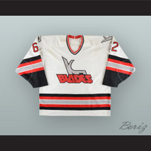 Andrei Nazarov 62 Kansas City Blades White Hockey Jersey