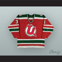 Chris Terreri 31 Utica Devils Red Hockey Jersey
