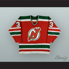 Hannu Kamppuri 33 New Jersey Red Hockey Jersey