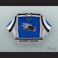 Jean-Philippe Cote 7 Saint John Sea Dogs Blue Hockey Jersey