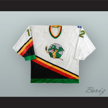 Ron Hoover 12 San Antonio Dragons White Hockey Jersey