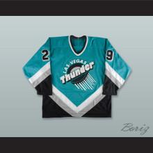 Vladimir Tsyplakov 29 Las Vegas Thunder Teal Hockey Jersey