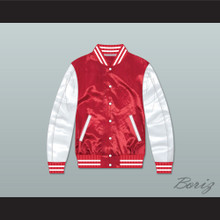 Cassius Clay The Greatest Red/ White Varsity Letterman Satin Bomber Jacket