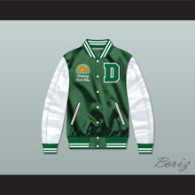 Freeway Rick Ross Susan Miller Dorsey High School Dons Tennis Green/ White Varsity Letterman Satin Bomber Jacket
