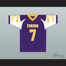 Lamar Jackson 7 Boynton Beach Community High School Tigers Purple Football Jersey 2