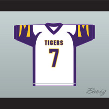 Lamar Jackson 7 Boynton Beach Community High School Tigers White Football Jersey 1