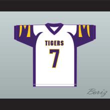Lamar Jackson 7 Boynton Beach Community High School Tigers White Football Jersey 4