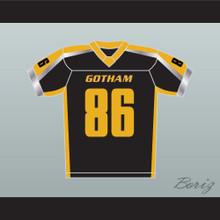 Gotham Rogues Hines Ward 86 Football Jersey Black Stitch Sewn New