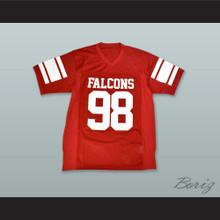 Tony Soprano 98 Falcons Red Football Jersey