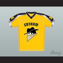 Gotham Rogues Hines Ward 86 Football Jersey Yellow Stitch Sewn New