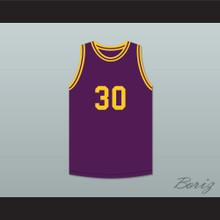Magic Johnson 30 Purple Basketball Jersey The Legend of Young Larry Bird Skit