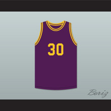 Earvin Magic Johnson 30 Purple Basketball Jersey The Legend of Young Larry Bird Skit