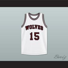 Anthony Keller 15 Wolves High School White Basketball Jersey