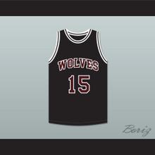 Anthony Keller 15 Wolves High School Black Basketball Jersey