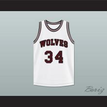 Billy Dunn 34 Wolves High School White Basketball Jersey