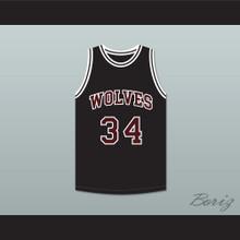 Billy Dunn 34 Wolves High School Black Basketball Jersey