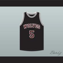 Hakim 5 Wolves High School Black Basketball Jersey