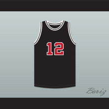 Jimmy Fallon 12 SNL Skit Black Basketball Jersey