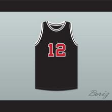 Jimmy Fallon 12 SNL Skit Black Basketball Jersey