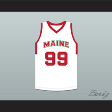 Tacko Fall 99 Maine White Basketball Jersey 1