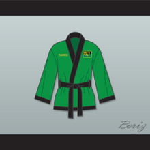 Prince Akeem Joffer Fictional African Country Green Satin Half Boxing Robe