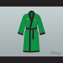 Prince Akeem Joffer Fictional African Country Green Satin Full Boxing Robe