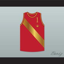 Prince Akeem Joffer 1 Red Basketball Jersey