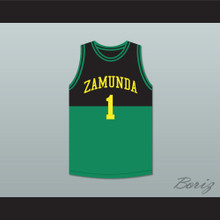 Prince Akeem Joffer 1 Fictional African Country Black/Green Basketball Jersey